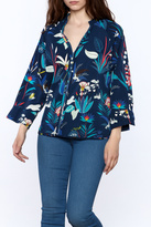 NU New York Printed Breeze Blouse