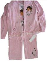 Disney Little Girls Pale Pink Dora the Explorer Print 3 Piece Pants Set