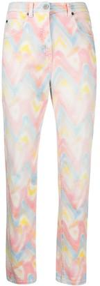 M Missoni Tie-Dye Straight Leg Jeans
