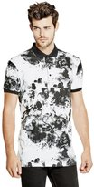 GUESS Inverted Floral Polo