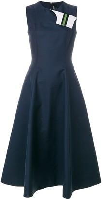 Calvin Klein fold flap flared dress