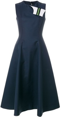 Calvin Klein Fold Flap Flared Dress