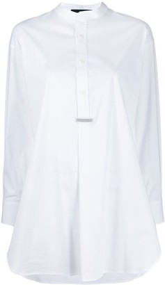 Steffen Schraut Long-Line Placket Shirt