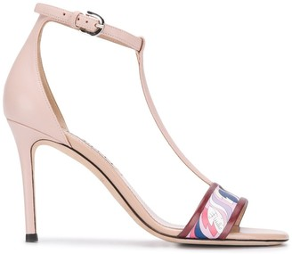 Emilio Pucci Abstract Print Detail Sandals