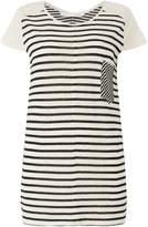 Oui Stripe pocket t shirt