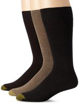 Gold Toe Men's Flat Knit Special 3 Pack Dress Socks
