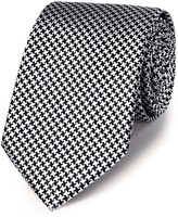 Charles Tyrwhitt Black silk classic puppytooth tie