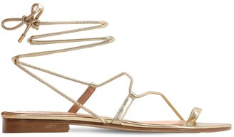 Emme Parsons 15mm Susan Metallic Leather Thong Sandal