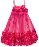 Bonnie Jean Dress, Little Girls Flower-Embellished Bubble Dress