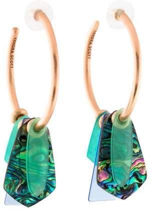 Kendra Scott Mother of Pearl Gaby Stone-Dangle Hoop Earrings
