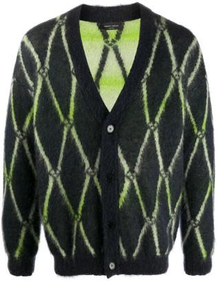Roberto Collina argyle V-neck cardigan