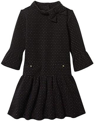 Janie and Jack Jacard Dress (Toddler/Little Kids/Big Kids) (Black) Girl's Clothing
