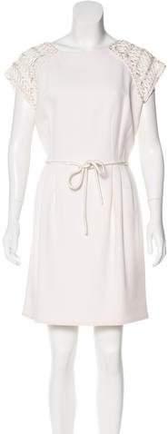 Andrew Gn Mini Short Sleeve Dress