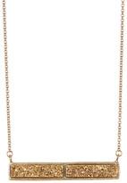 "Rivka Friedman 18K Gold Clad 18\"" Gold Druzy Bar Necklace"