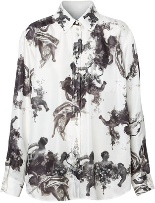 Burberry angel print shirt