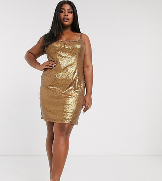 Pretty Darling Plus sequin bodycon dress