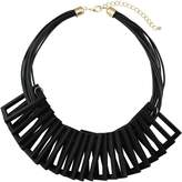 BOCAR Newest Statement Geometric Wood Choker Necklace Vintage Pendant Bib Jewelry