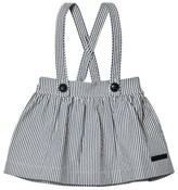 Burberry Blue Seersucker Sophya Skirt with Braces