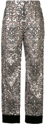 Dolce & Gabbana mesh-overlay cropped trousers