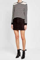 The Kooples Striped Wool Pullover with Embellishment