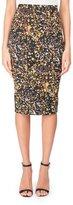 Victoria Beckham Marble-Print Pencil Skirt, Black