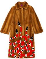 Gucci Kingsnake intarsia mink fur coat