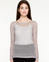 Le Château Open-Stitch Scoop Neck Sweater
