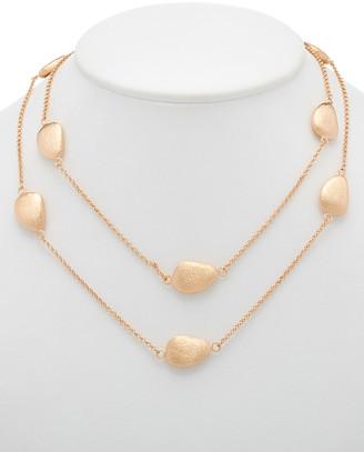 Rivka Friedman 18K Rose Clad 36In Necklace