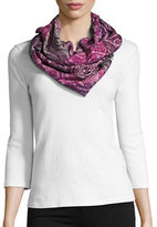 Lord & Taylor Patterned Infinity Loop Scarf