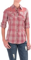 North River Voile Western Shirt - Snap Front, Roll-Up Long Sleeve (For Women)