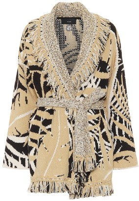 Alanui Jungle Foliage cotton and wool cardigan