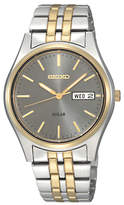 Seiko Coutura Sne042p9 Two Tone Stainless Steel Five Chain Bracelet Strap Watch, Gold/silver
