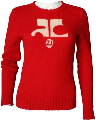 Courreges Red Wool Knitwear for Women Vintage