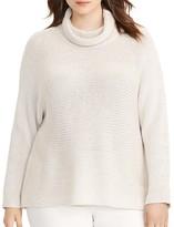 Lauren Ralph Lauren Plus Dolman Funnel Neck Sweater