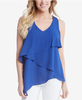 Karen Kane Asymmetrical Tiered Tank Top
