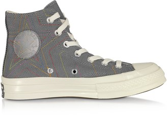 Converse Limited Edition Cool Gray Chuck 70 Exploding Star High Top