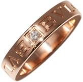 Bulgari 750 Rose Gold 0.04ct. Diamond Ring Size 4.5