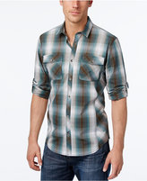 INC International Concepts Men's Thymine Plaid Long-Sleeve Shirt, Only at Macy's