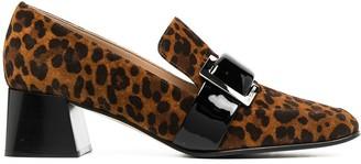 Sergio Rossi Prince leopard print loafers