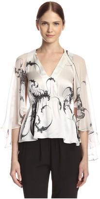 Thomas Wylde Women's Nightshade Printed Silk Top