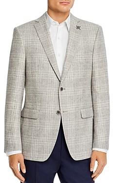 John Varvatos Bleeker Textured Tonal Plaid Slim Fit Sport Coat