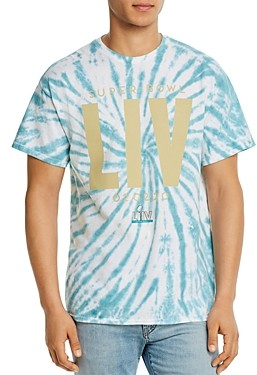 Junk Food Clothing Cotton Super Bowl Liv Tie-Dyed Tee
