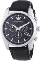 Giorgio Armani Emporio Men's Sportivo AR6039 Leather Analog Quartz Watch