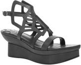 Max Studio Bezel Cut Out Leather Sandals