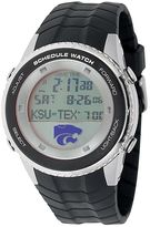 Game Time Kansas State Wildcats Stainless Steel Digital Schedule Watch - Men