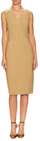 Carolina Herrera Virgin Wool V-Neck Dress