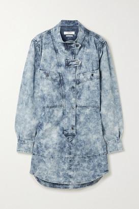 Etoile Isabel Marant Inaroa Acid-wash Denim Mini Dress - Blue