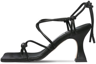 Miista 80mm Leather Lace-up Sandals