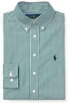 Ralph Lauren Striped Cotton Dress Shirt Green/White Multi 10