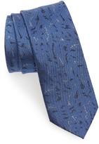 Lanvin Men's Shadow Jacquard Silk Skinny Tie